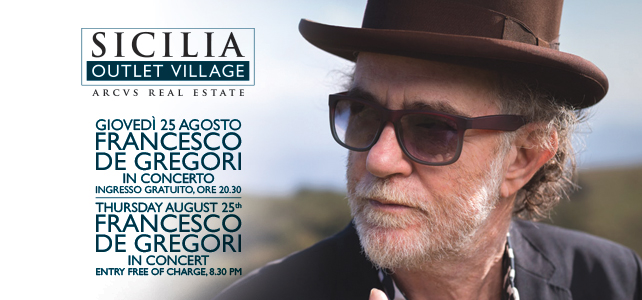 Francesco De Gregori al Sicilia Outlet Village in concerto